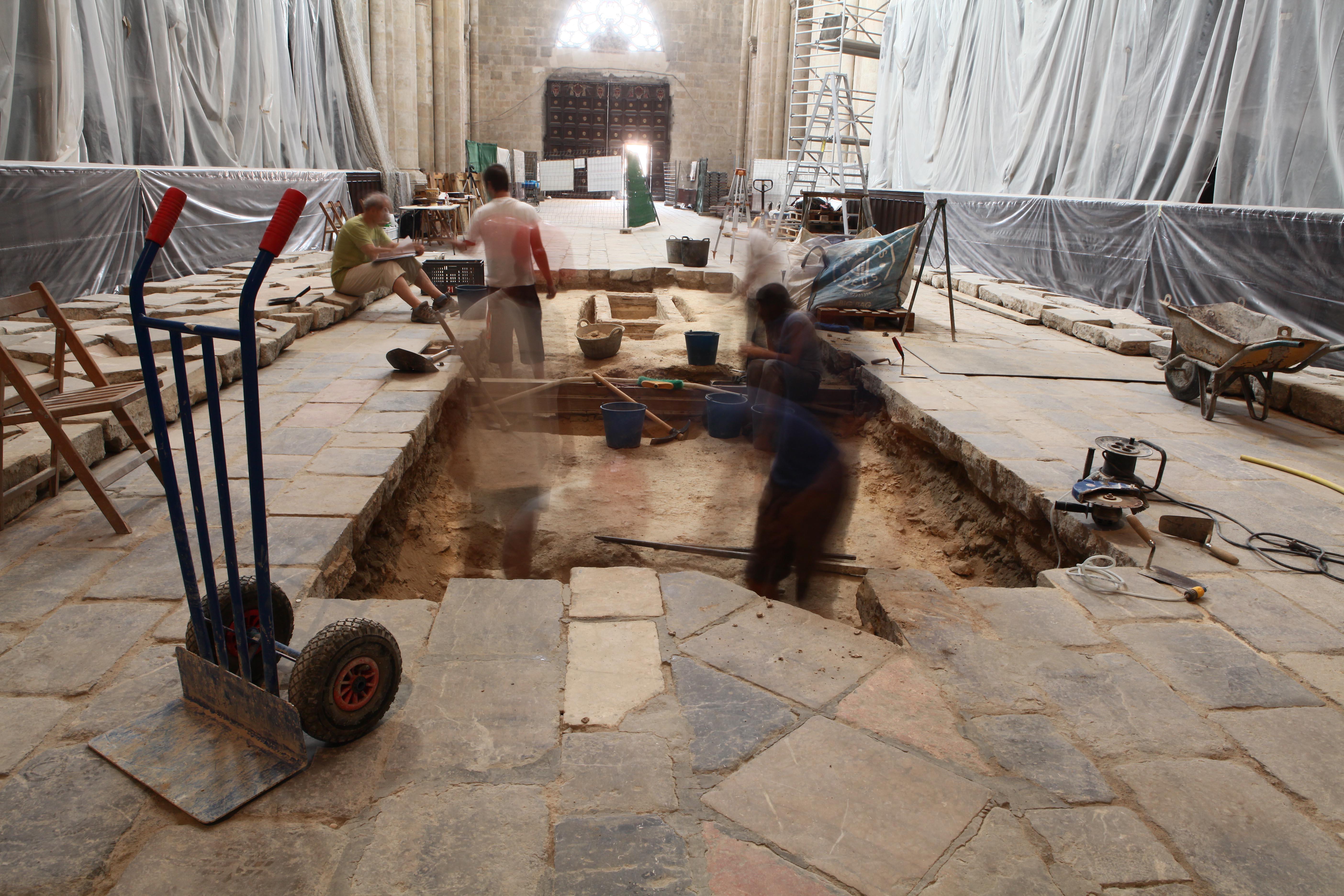 Excavacions a la Catedral de Tarragona. Foto: Manel Granell