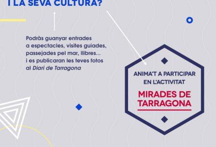 Cartell promocional del concurs de fotografia Mirades de Tarragona