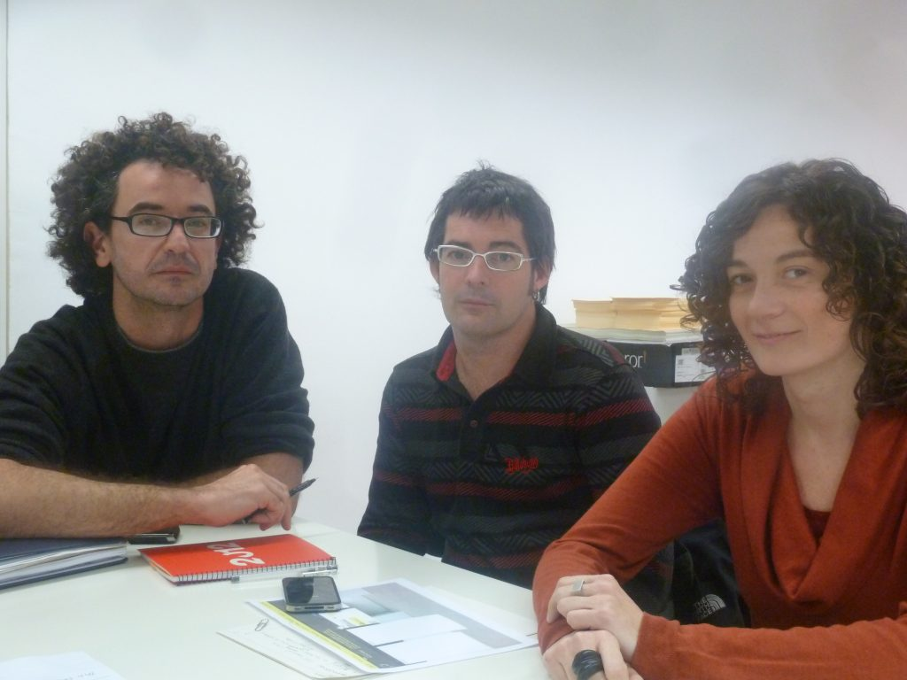 D'esquerra a dreta, Jordi Ribas, Cristian Añó i Cèlia del Diego