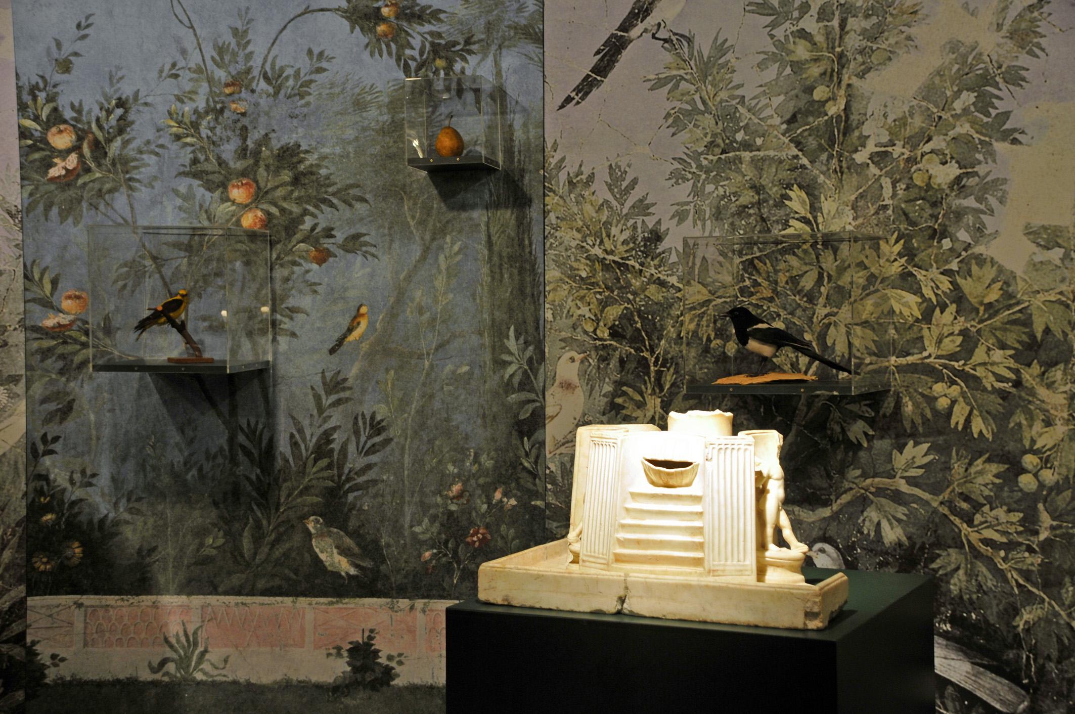 """Recreació d'un jardí romà a l'exposició """"Paradisus. Jardins i plantes medicinals de Tàrraco a Orléans"""""""