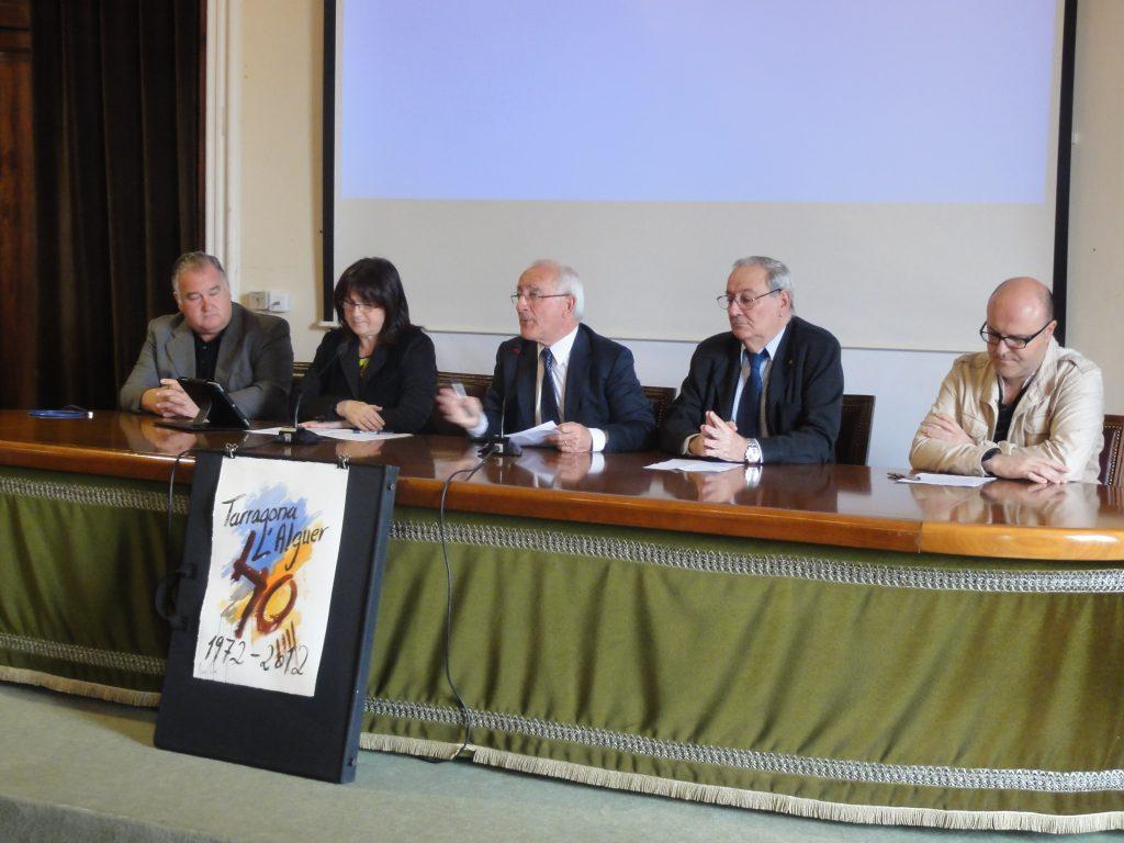 Presentació dels actes del 40è aniversari de l'agermanament entre Tarragona i l'Alguer