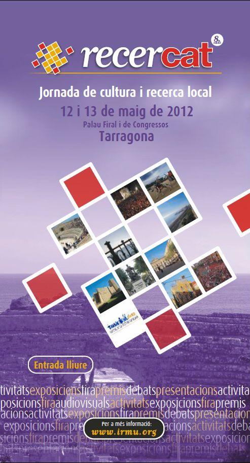 Portada programa d'actes RECERCAT 2012
