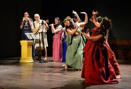 Representació de l'espectacle 'Carmina Canere' per part de Thaleia