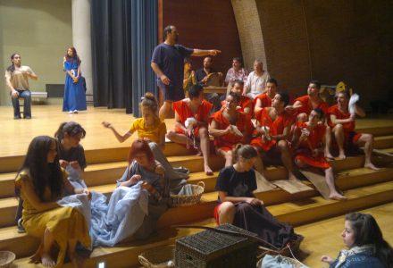 Assaig de l'espectacle 'Hic habitas felicitas' a l'Auditori August del Palau de Congressos de Tarragona