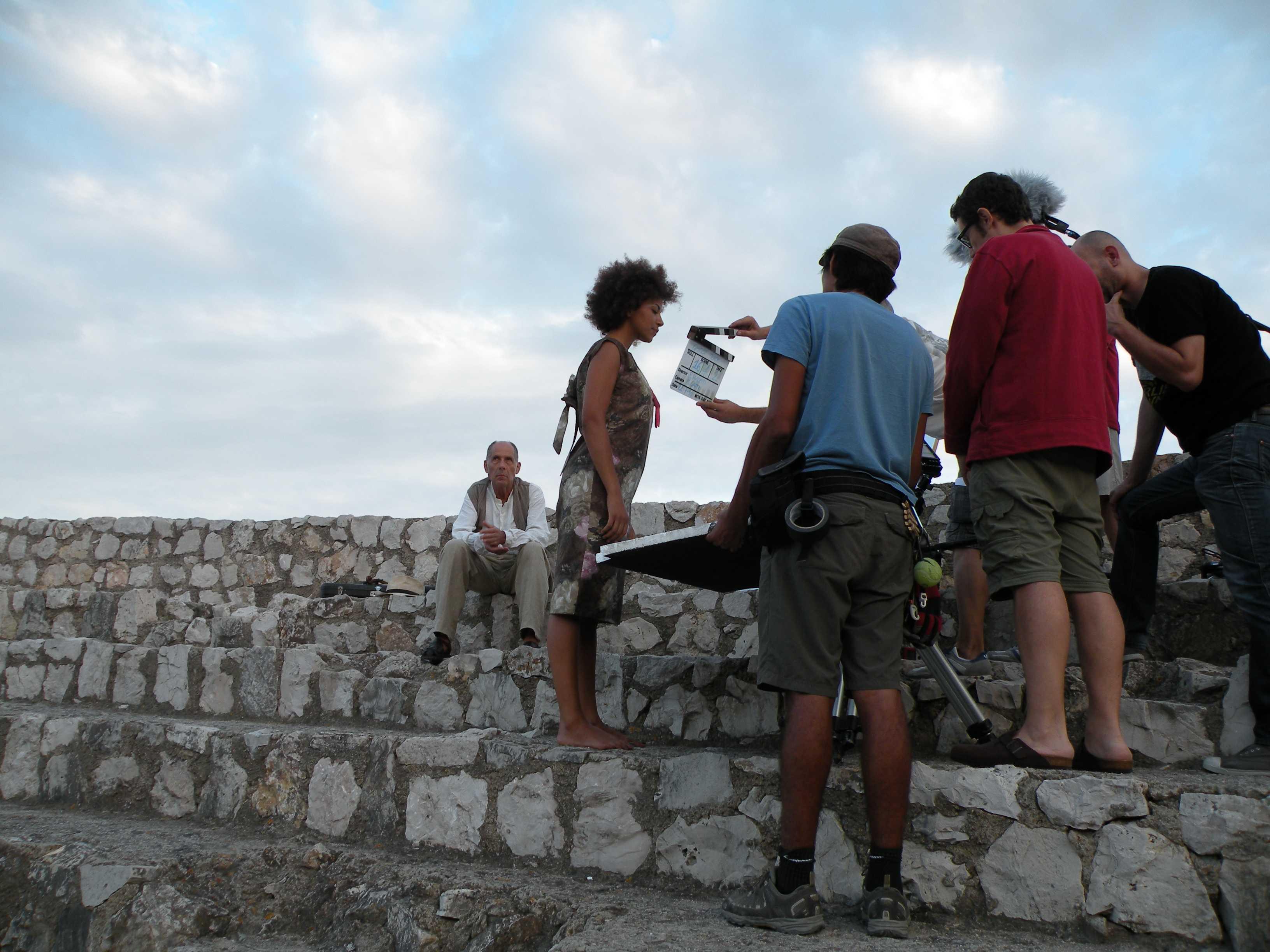 Moment del rodatge de 'Ghost Track' a l'amfiteatre de Tarragona