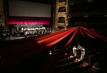 Assaig de l'estrena de l''L'home del paraigua' al Liceu de Barcelona