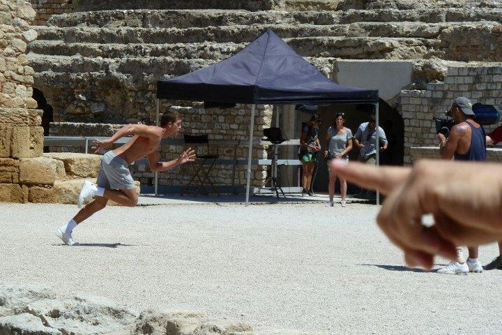 Rodatge de l'anunci de Dolce Gabanna a l'amfiteatre de Tarragona
