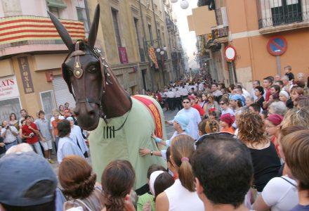 La Mulassa a la plaça de les Cols. Foto: Montse Riera