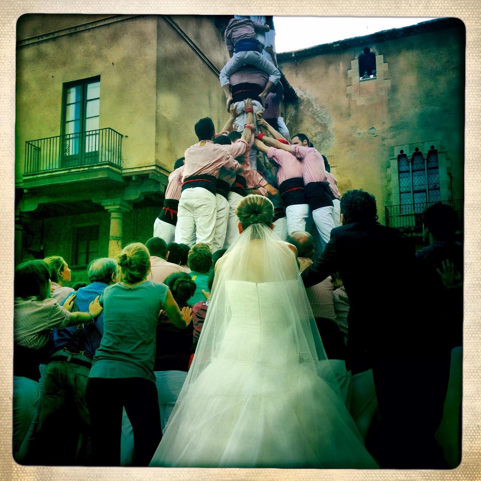 Actuació dels Xiquets de Tarragona al Pla de la Seu. Juliol 2012. Foto: Carles Llop