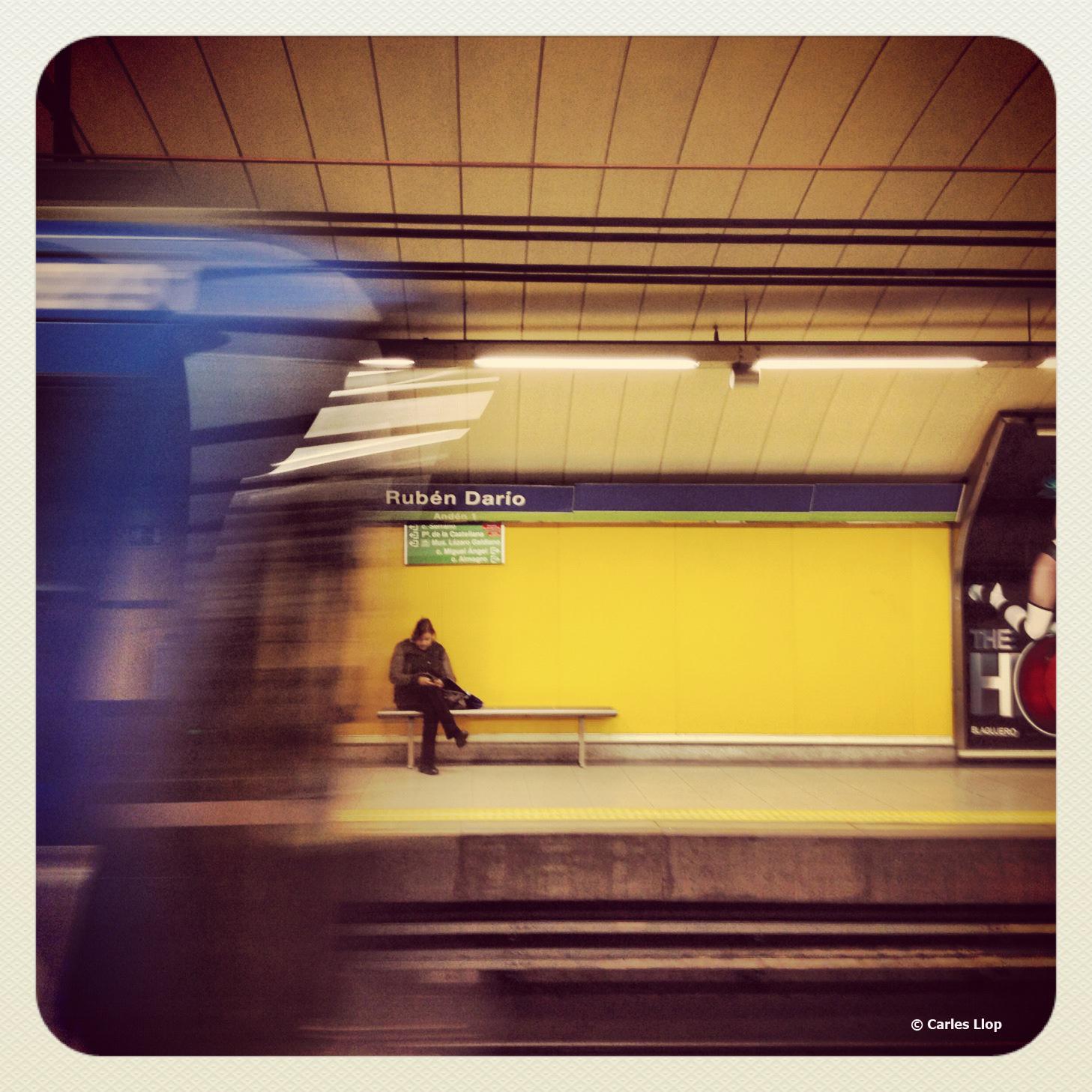 Fotografia del metro de Madrid realitzada amb Iphone. Foto Carles Llop