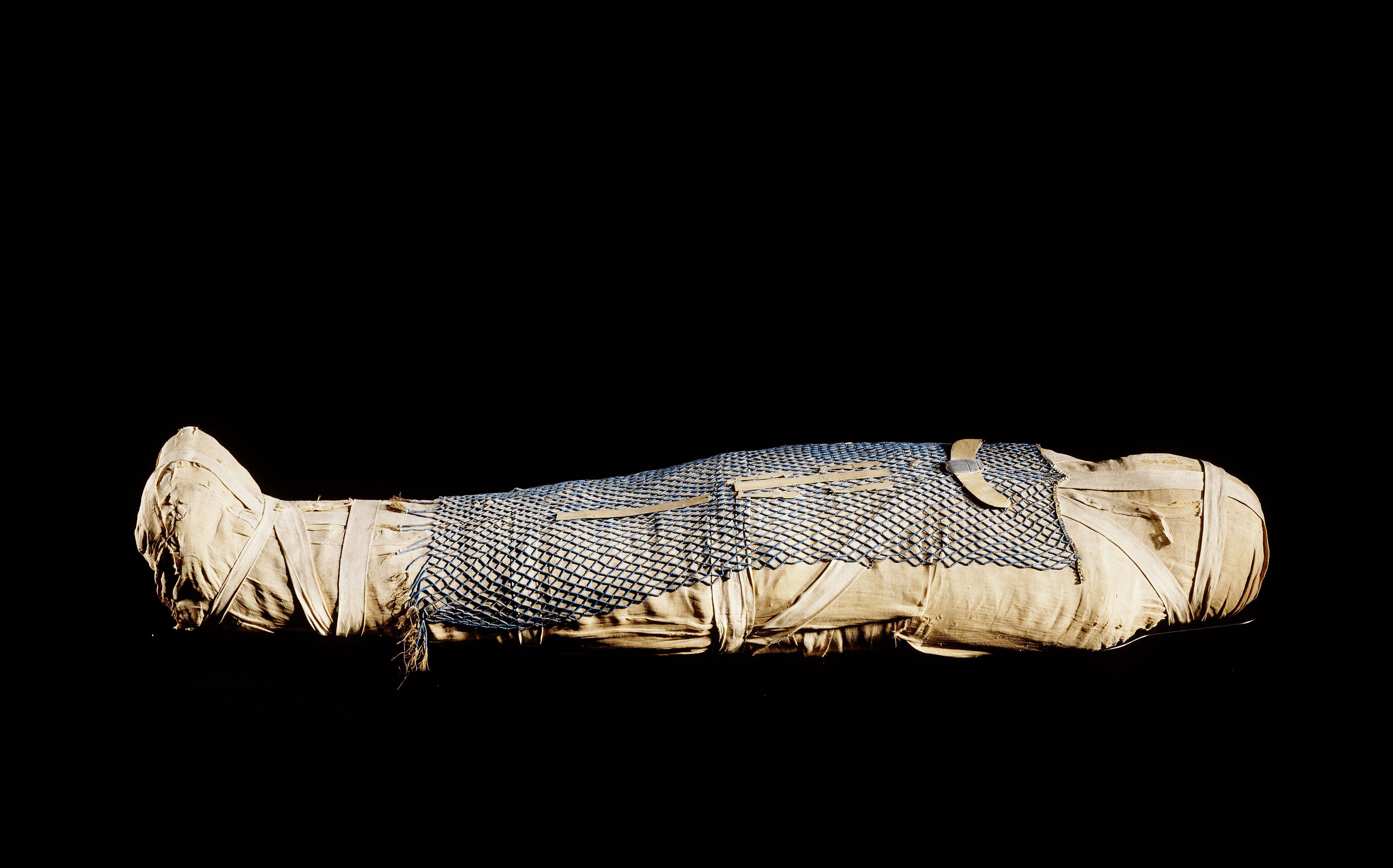 Sarcòfag interior d'Ankhhor. Tebes, Deir-el-Bahari, c. 625 aC. Peça sencera © RMO