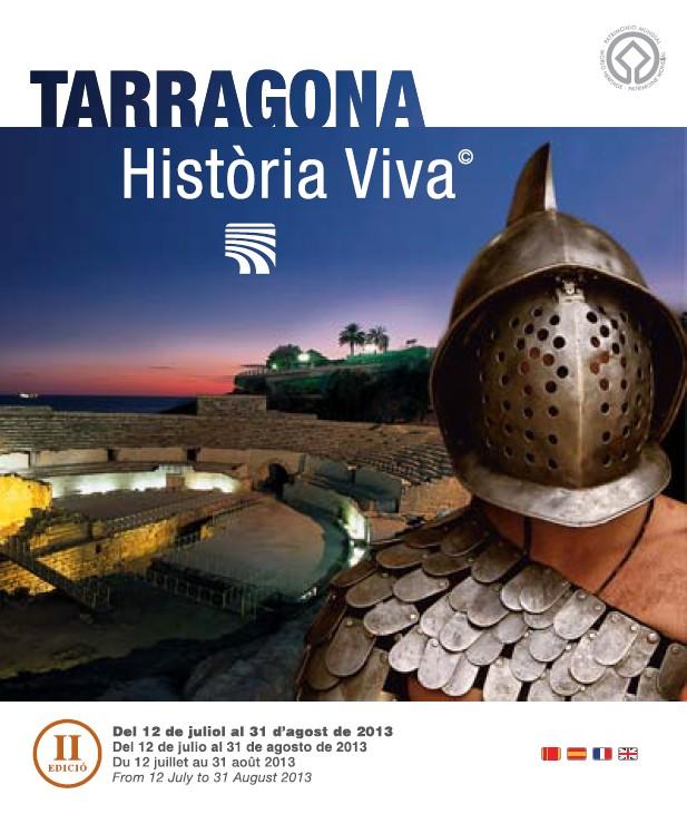 Cartell del cicle d'espectacles de reconstrucció històrica Tarragona Història Viva