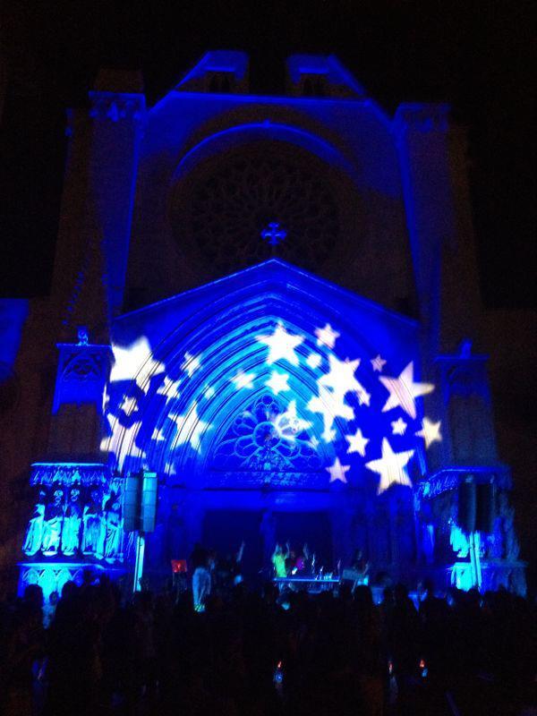 La Catedral il·luminada durant la Sindriada 2012, que ja fou organitzada per l'entitat tarragonina (CEDIDA: Pipel Entertaintment)