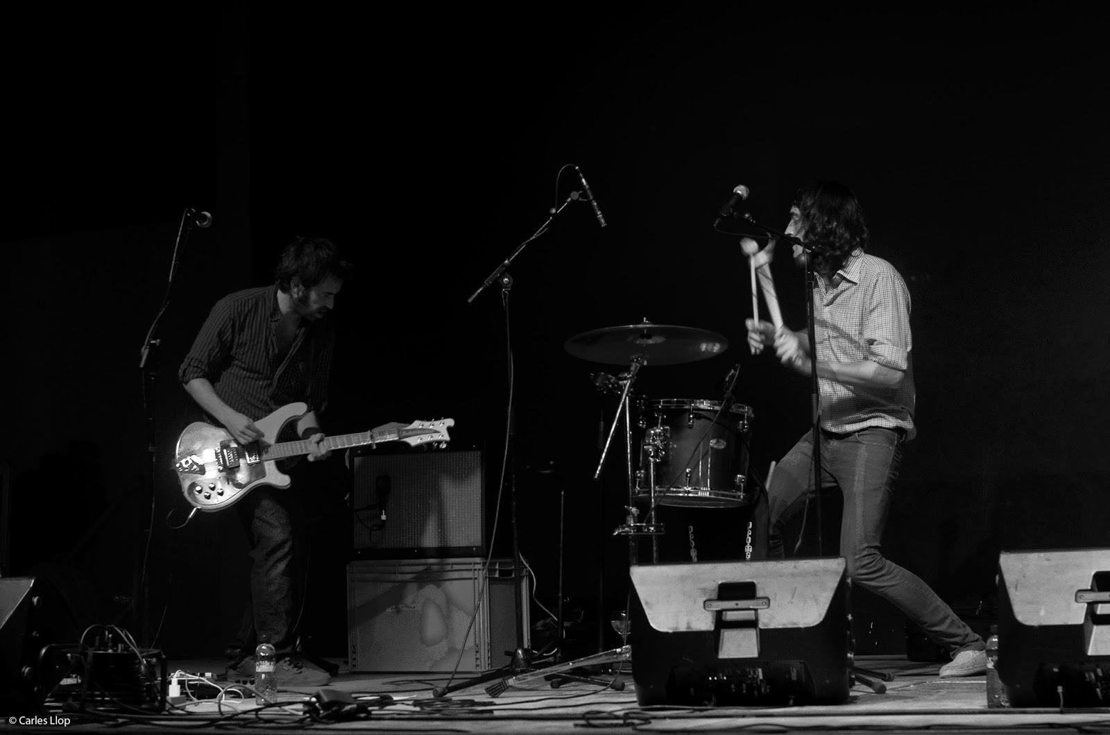 César (esquerre) i David en un concert dels Harrison Ford Fiesta a Reus - Foto: Carles Llop