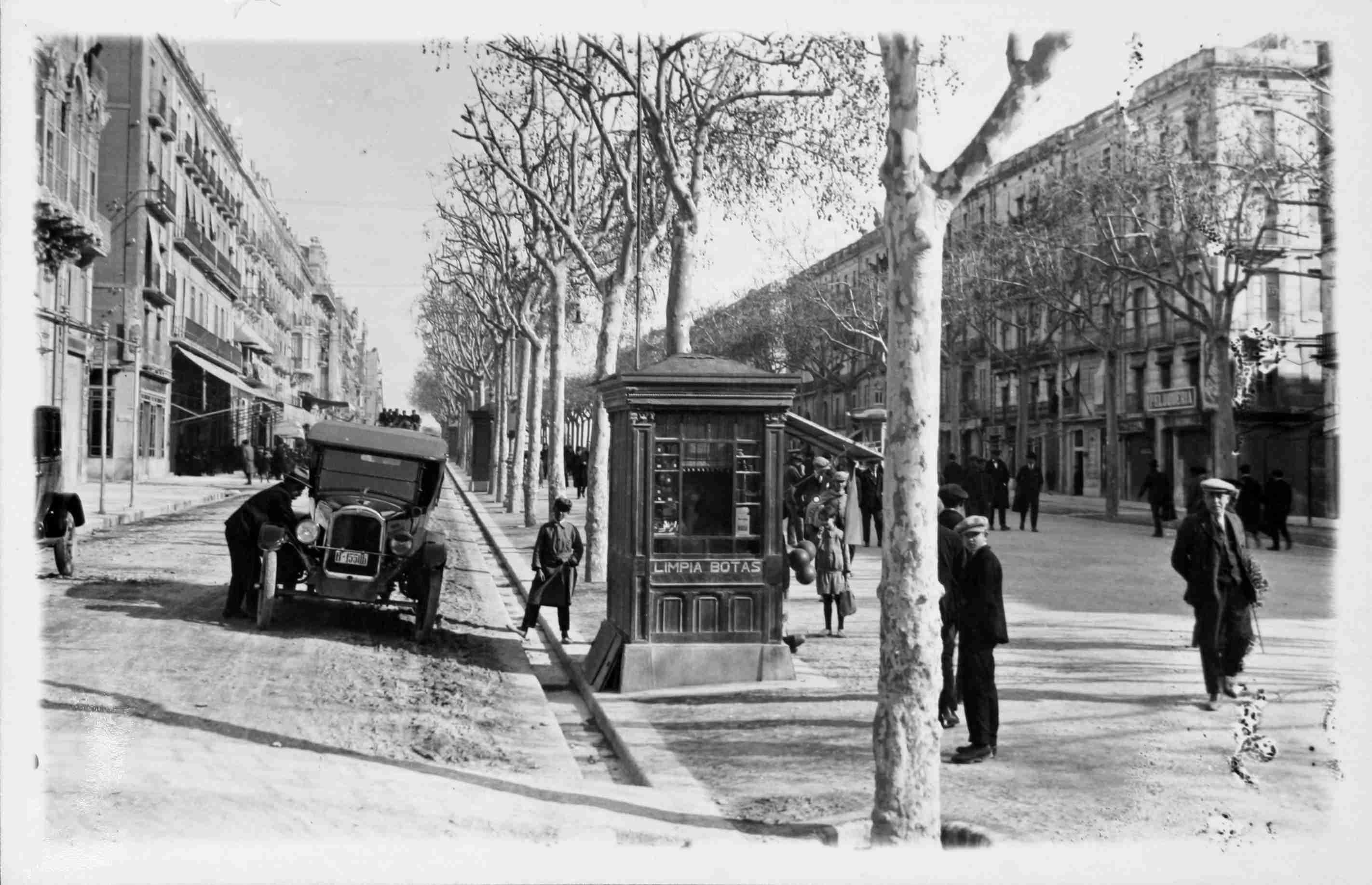 La Rambla de Tarragona, a inicis dels anys 20. Foto: Gerard Chinchilla Berenguer