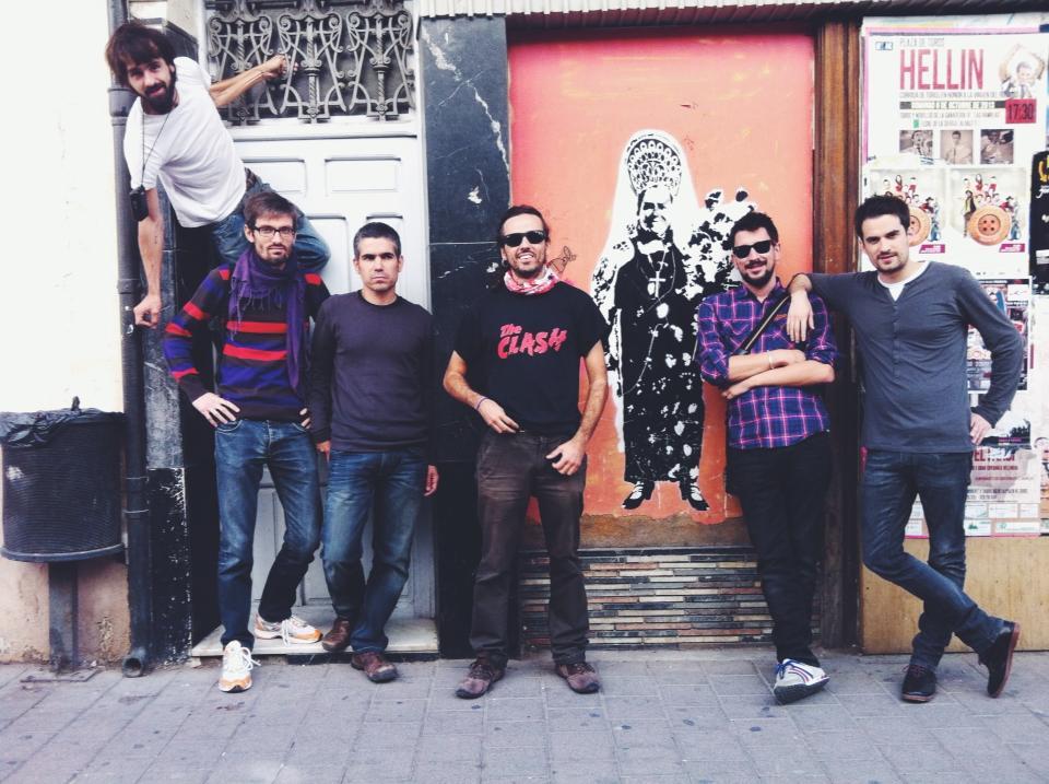 Sis dels set fotògrafs participants a la residència artística.