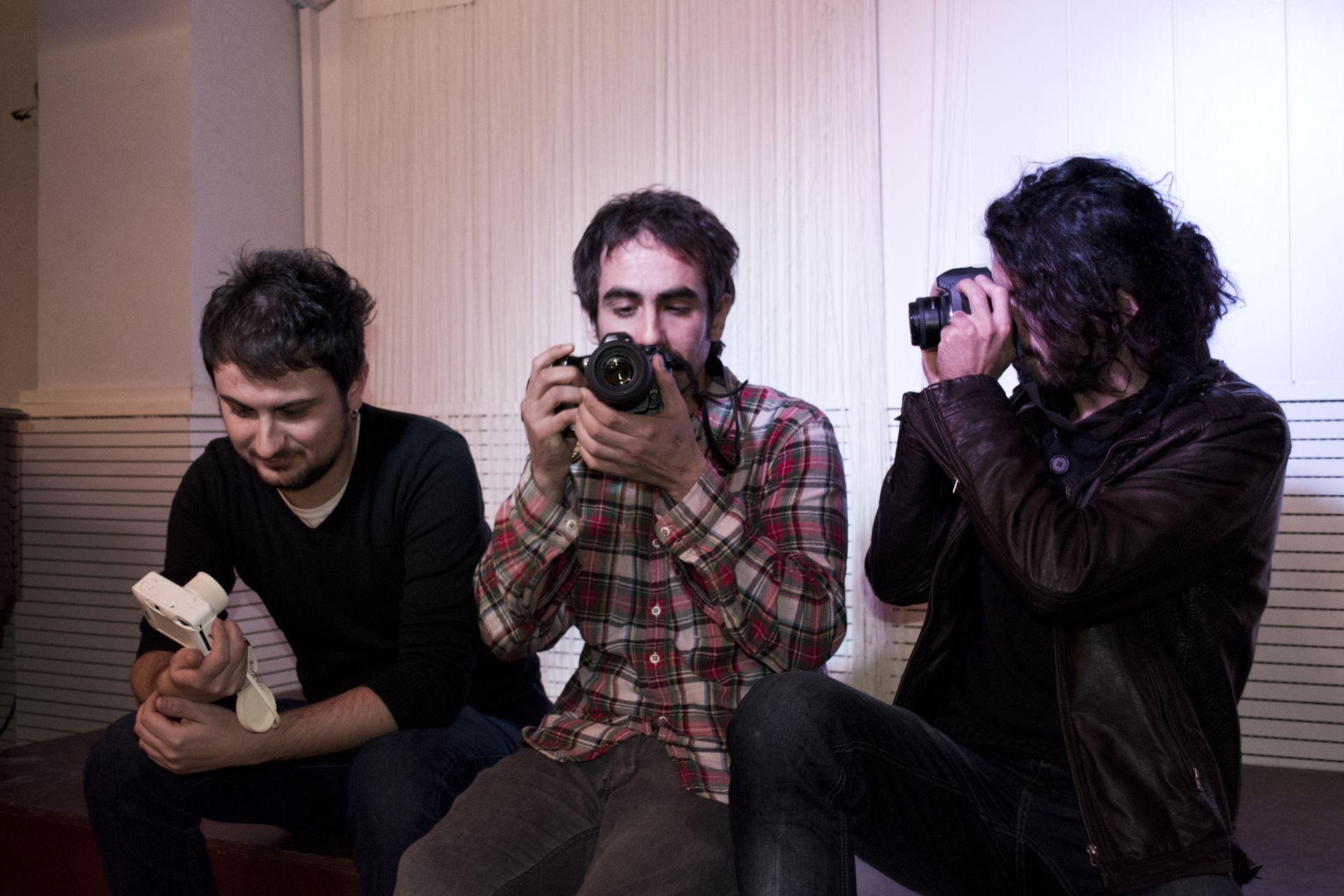 D'esquerra a dreta, Joel Giné, Adrià Borràs i Robert Eduard, responsables de l'Objectiu Actiu