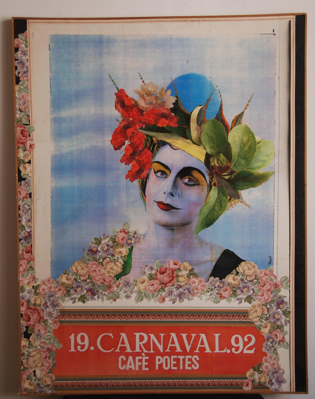 Cartell del Carnaval de Poetes de 1992. Autor Toni Torrell