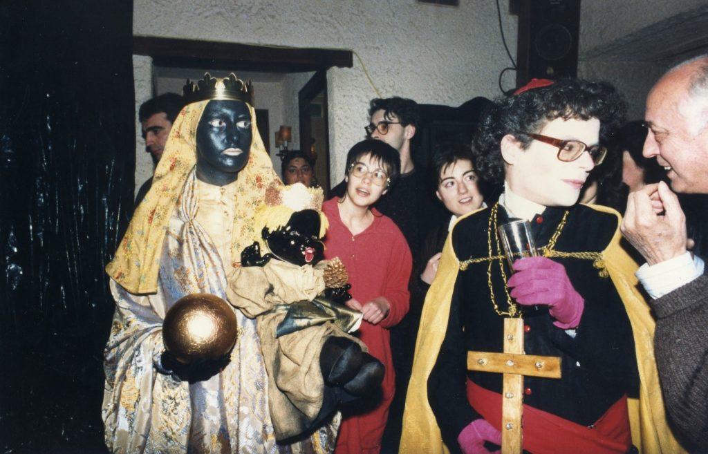 Festa de Carnaval de Poetes l'any 1988. Antoni Torrell i Joaquín Martín