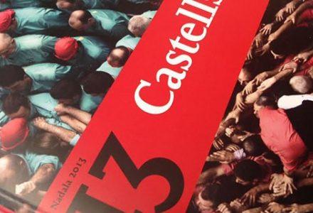 Portada del llibre-nadala 'Castells'.