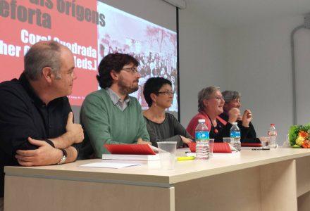 D'esquerra a dreta, Jordi Piqué, Javier Villamayor, Dolors Comas d'Argemir, Coral Cuadrada i Esther Gutiérrez