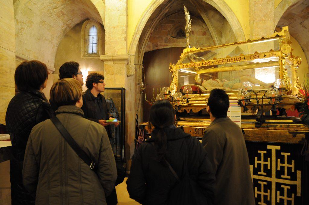 Visita guiada al pas del Sant Sepulcre. Foto Auriga Serveis Culturals