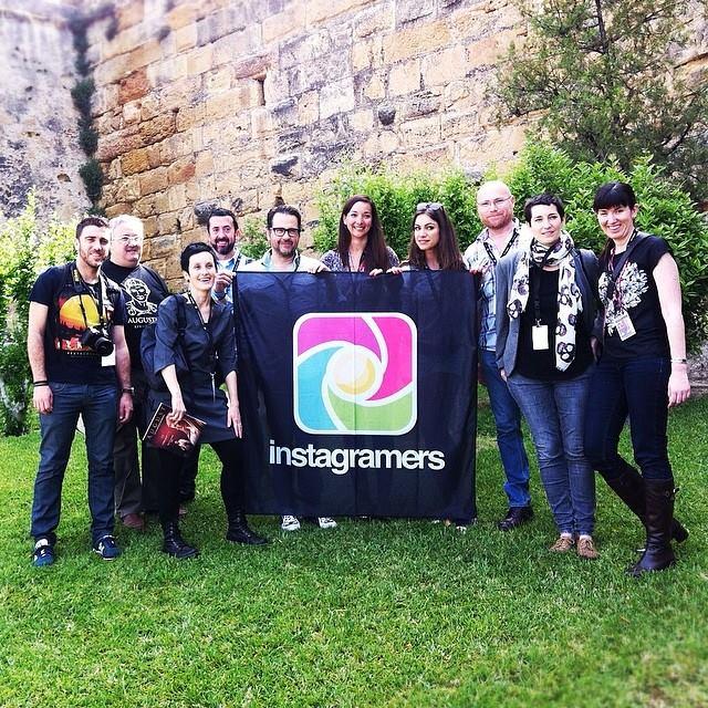 Phil Gonzalez, cinquè per l'esquerra, amb la resta d'igers convidats aquest cap de setmana per viure Tarraco Viva