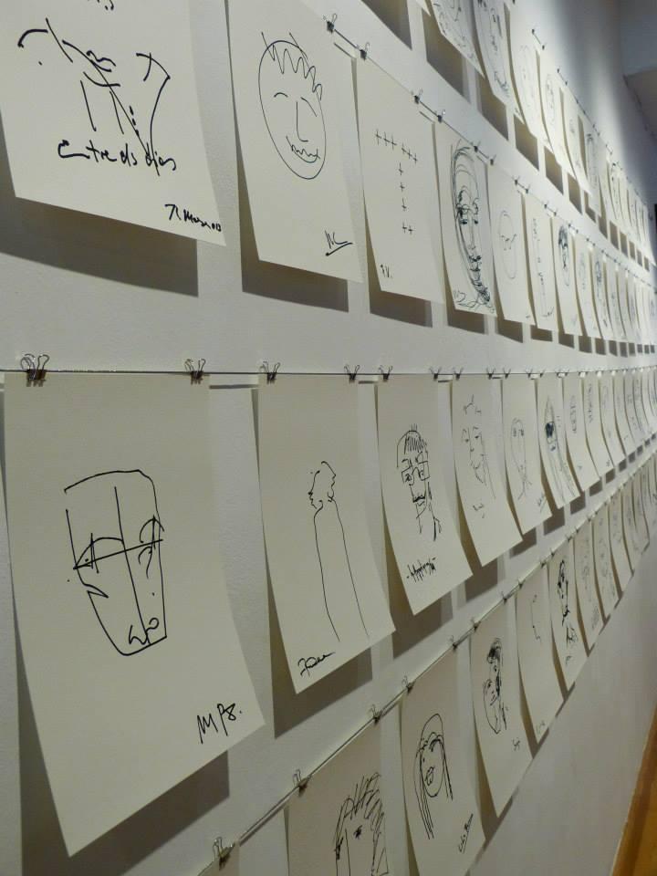 Autoretrats de diferents artistes fets a cegues