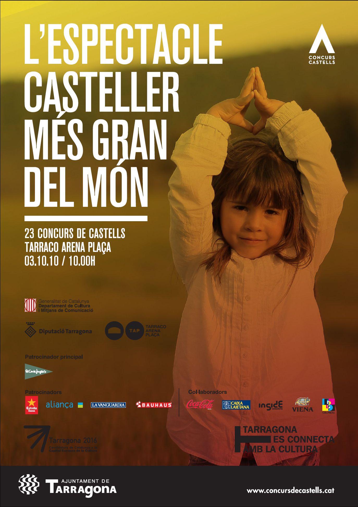 Cartell del Concurs de Castells de 2010, obra d'Inside Consultores