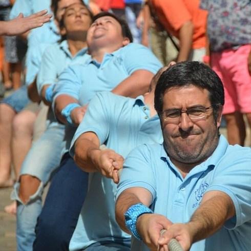 L'equip de la Mulassa participant al III Concurs d'Estirada Corda de Sant Magí. Foto Manuel López