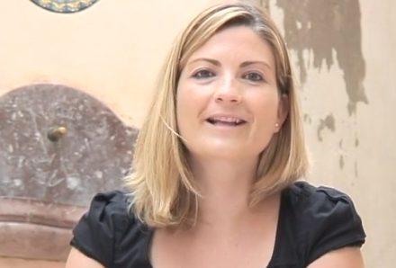 Raquel Sans en el rodatge del vídeo per al butlletí #FandeTGN