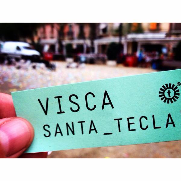 Visca Santa Tecla. Adrián Villacreces