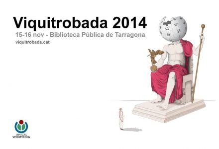 Imatge promocional de la Viquitrobada 2014 a Tarragona