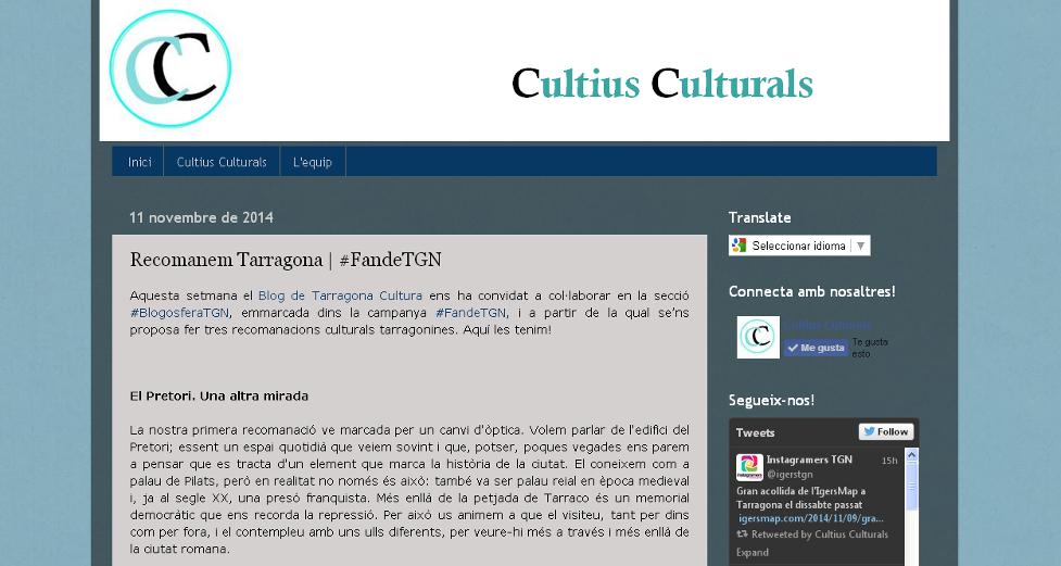 Blog de Cultius Culturals