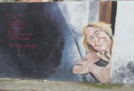 Mural homenatge a Montserrat Abelló 3