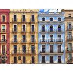 Façanes de la plaça de la Font. Foto: @ingocat