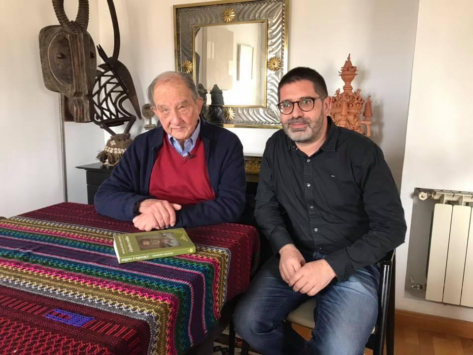 Després d'entrevistar Nicolás Sánchez Albornoz a Madrid