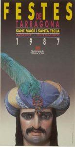 Cartell de les festes de Santa Tecla de 1987
