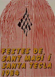 Cartell de les festes de Santa Tecla de. 1984