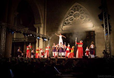 Representació del Retaule de Santa Tecla 2016 en versió simfònica. Foto: David Oliete.