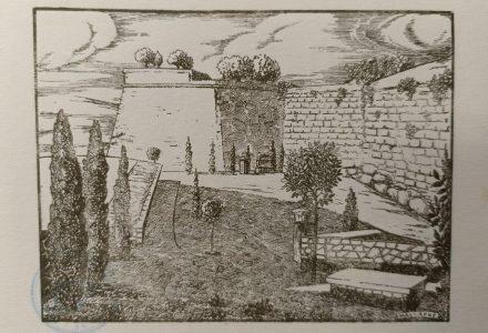 Dibuix de Mallafrè per l'opuscle Muralles de Tarragona. Antoni Rovira i Virgili, 1933. BHMT